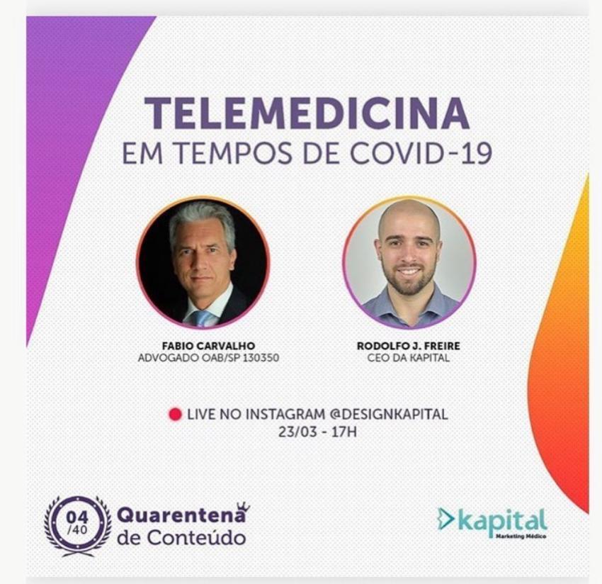 TELEMEDICINA EM TEMPOS DE COVID-19 - LIVE INSTAGRAM 2020-03-23
